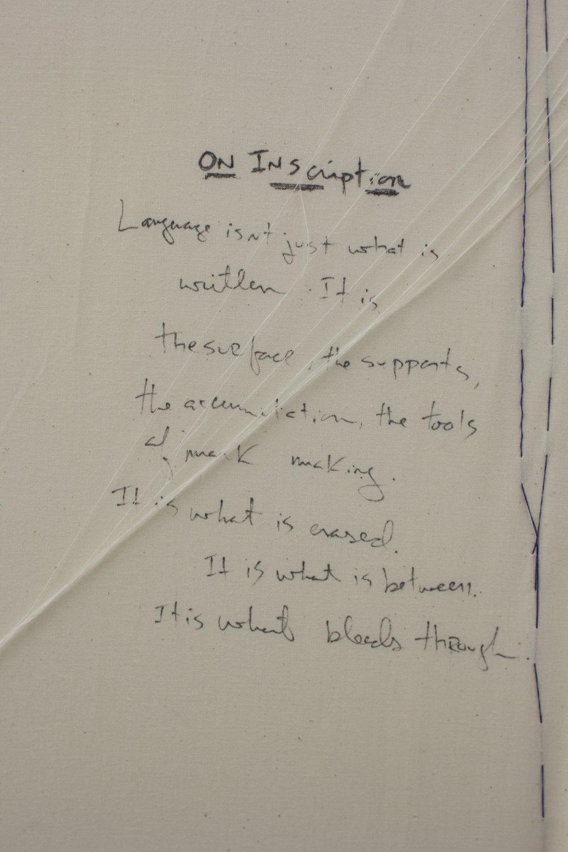 On Inscription - detail