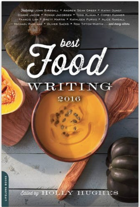 ASG in Best Food Writing 2016 (for Mother's Diaries in Saveur)