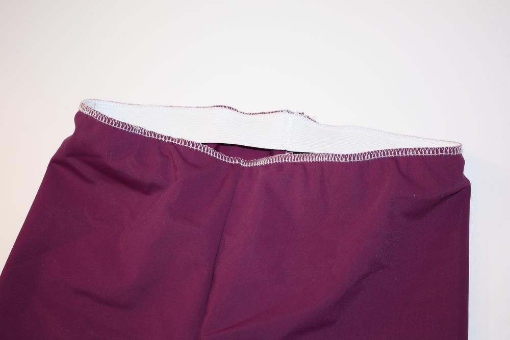 (Steps 18 - 19) Stitch elastic around the waist.