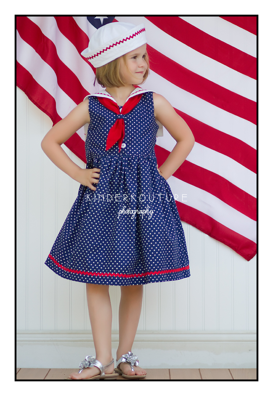 Tie Dye Diva Seaside Sailor Hat and Dress