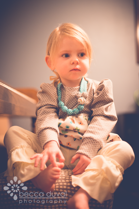 Ah yes, that's more like it. The perpetual pout of a photographer's child.