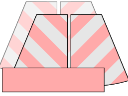 Chevron Version: Cut TWO opposite Front pieces, TWO opposite Back pieces and ONE Waistband