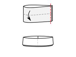 fold waistband in half