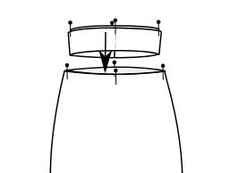slip skirt inside waistband