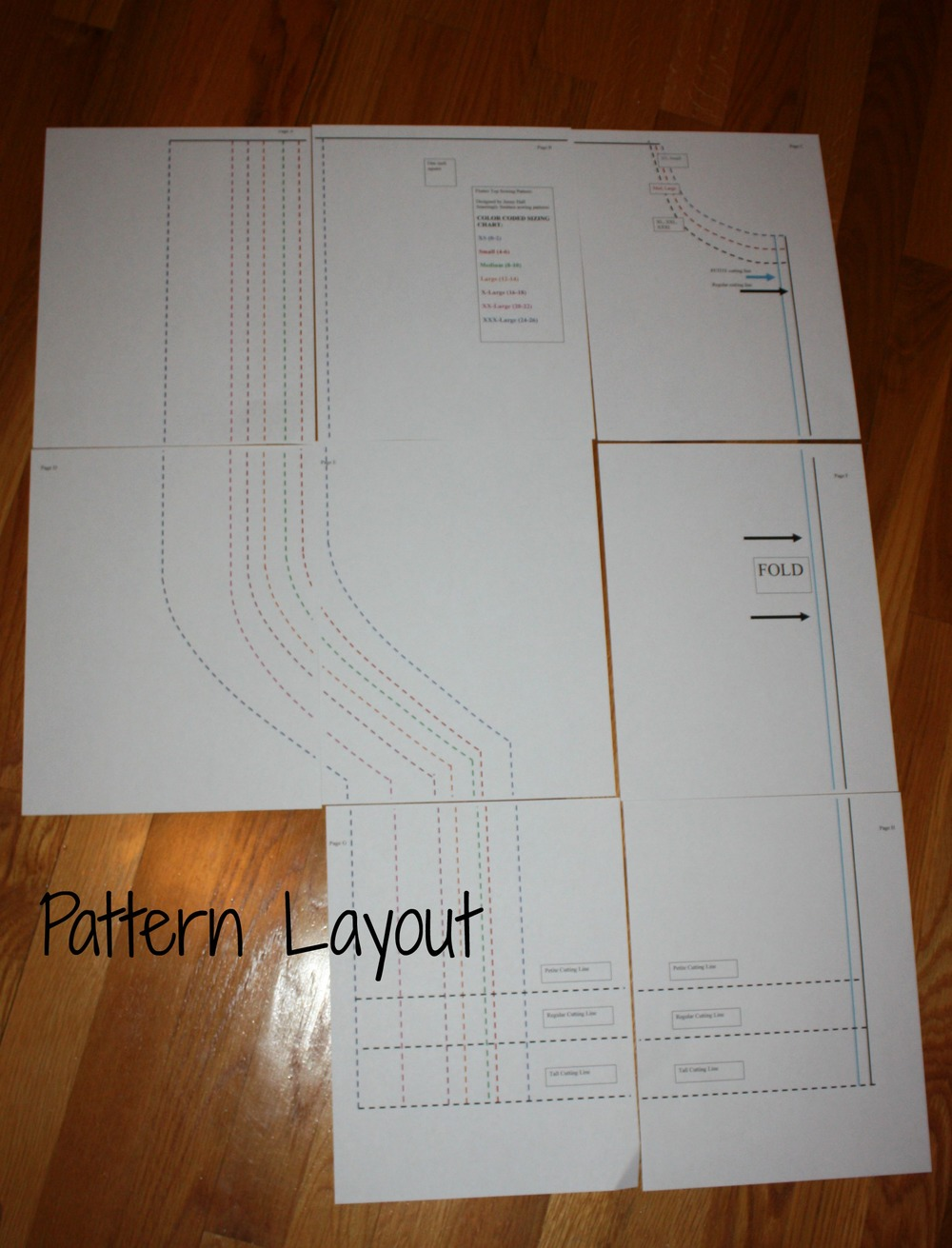 what your pattern will look like laid out