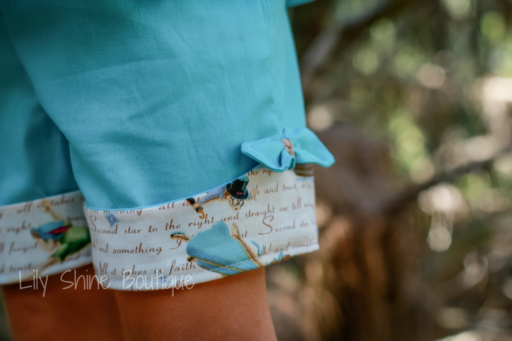 """Second star to the right and straight on till morning"" The coordinating fabric really popped in the cuff band detail!"
