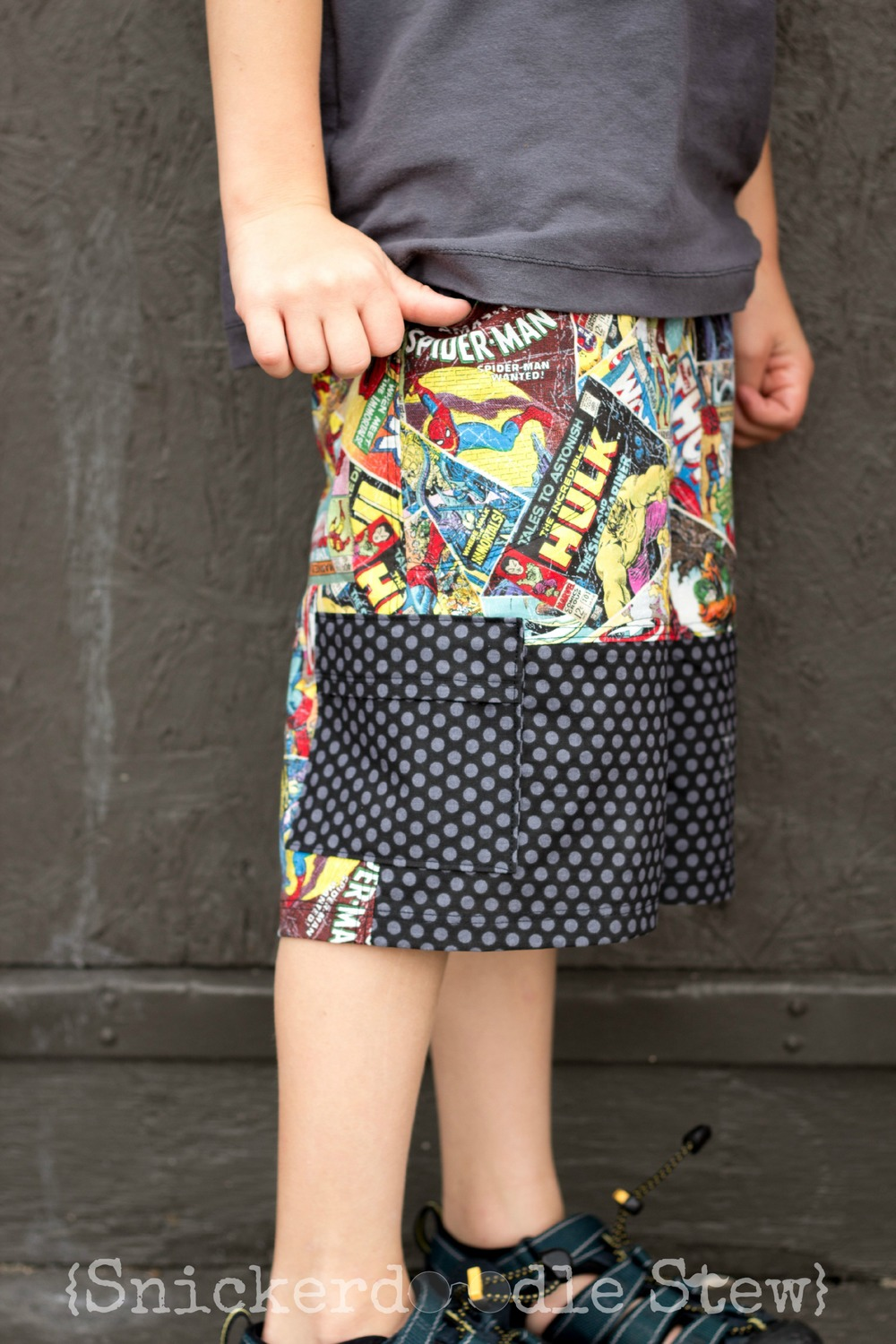 FIshsticks Designs' Sand and Sidewalk Boardshorts and Skate Pants Pattern