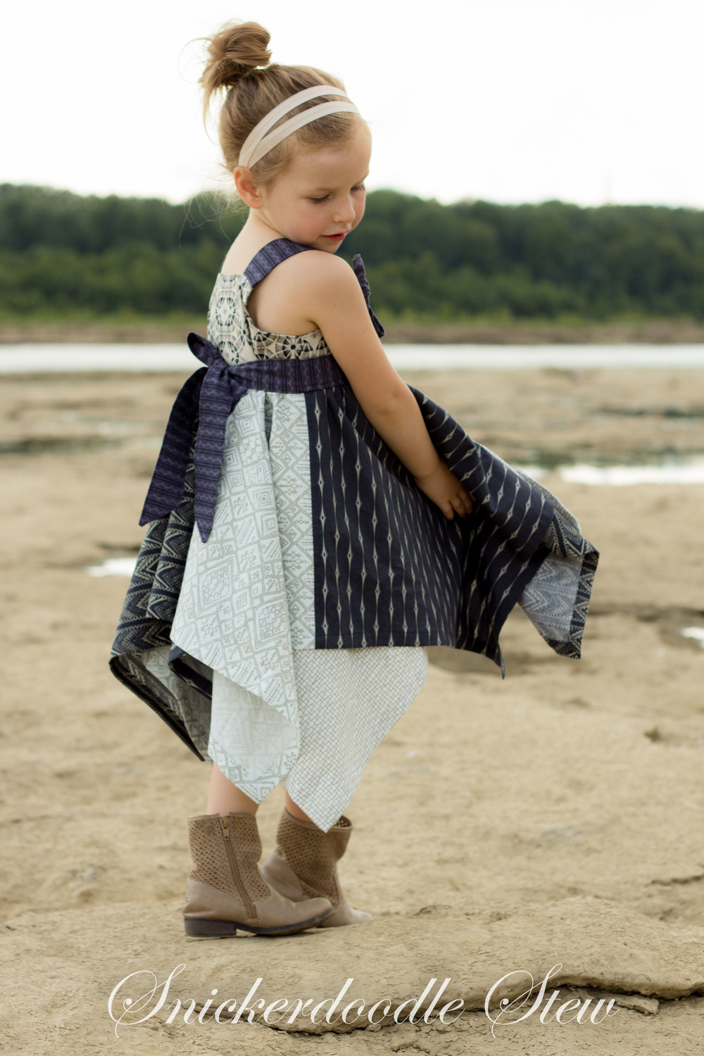 Parson Gray Inspired Handkerchief Knot Dress- Pattern Revolutiton