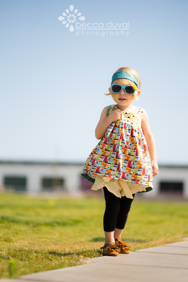 Pattern Review of the Lolita Ruffle Shorts By Felicity Patterns (@PatternBug) | Featuring the Elegance & Elephants Bohemian Baby Doll (@EandElephants), Free Create Kids Couture Retro Headband (@cre8kidscouture), and Joyfolie Sydni Shoes (@jessicahaley)