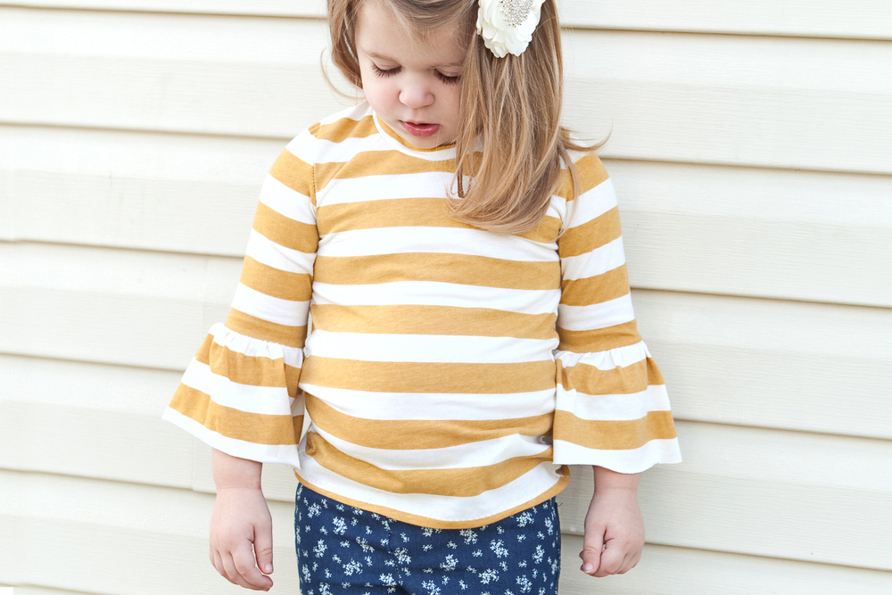 Mustard and Ivory Stripe from  Girl Charlee