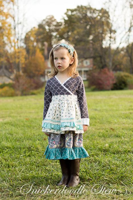 Tallulah bodice + Huckleberry skirt/apron
