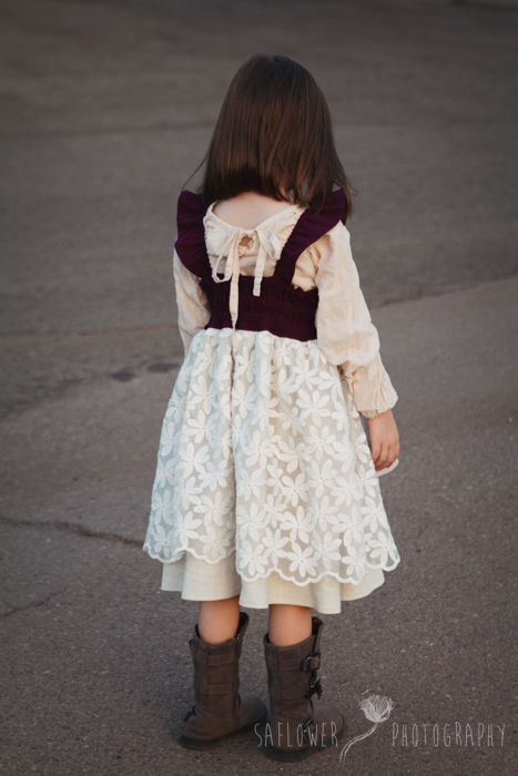 Huckleberry Flutter Apron Dress