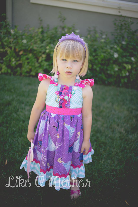 Huckleberry Flutter Apron Dress by FooFoo Threads- Pattern Revolution