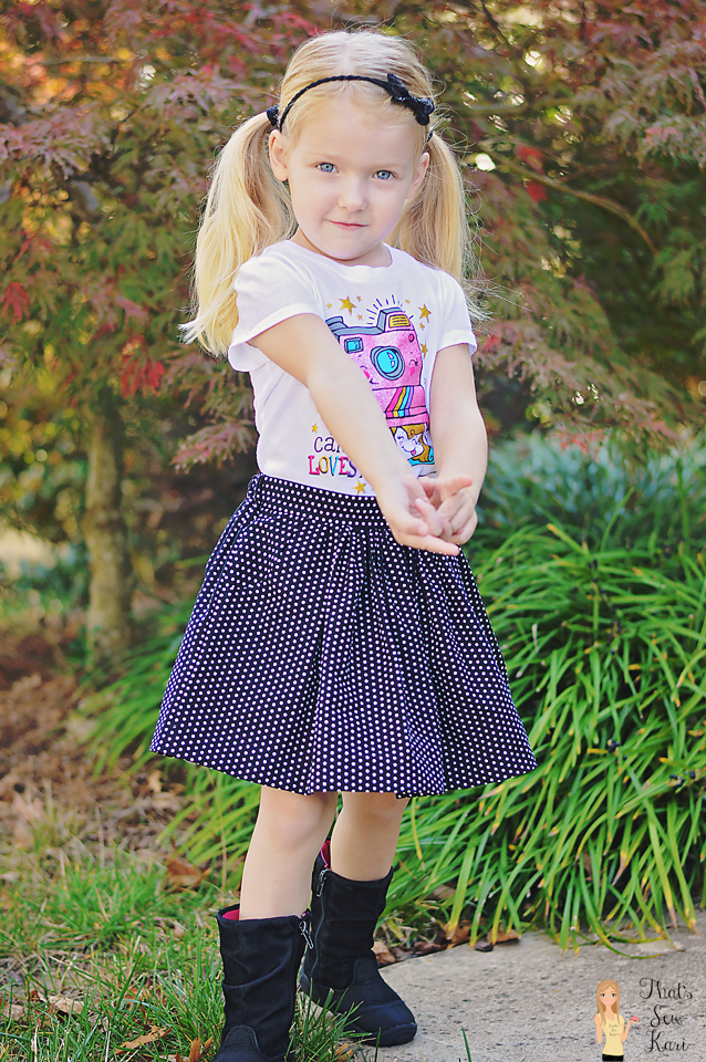 Girl's Gathered Skirt by Pattern Emporium
