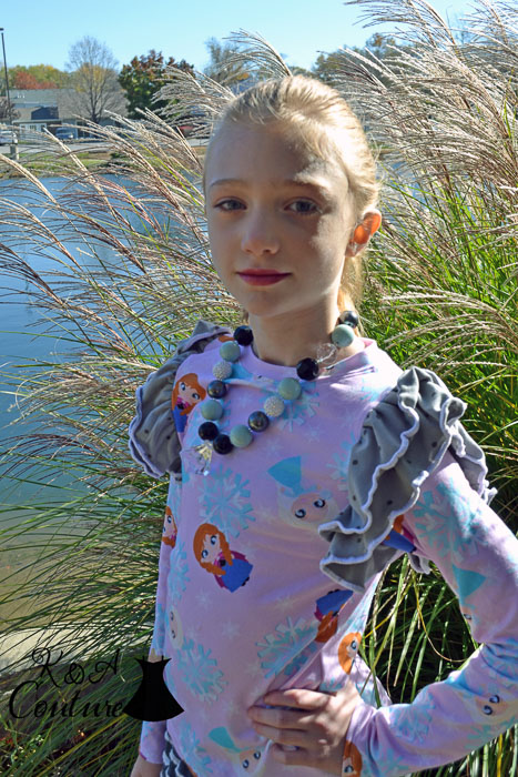 Fiddlehead Flutter Top by Lily Giggle- Pattern Revolution