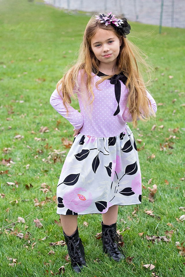 Brigitte Bow Top and Dress by LilyGiggle- Pattern Revolution