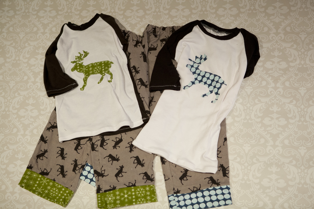 My boys have 3/4 length sleeves, while their cousin's has long sleeves, there is also a long sleeve with cuff option in the Lane Raglan pattern.