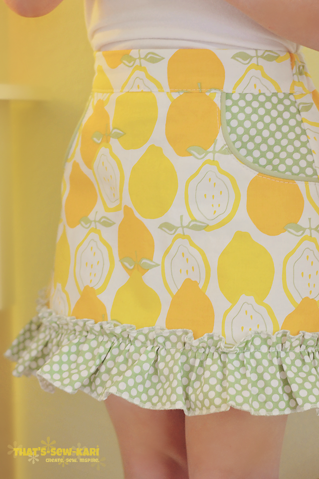 The Potato Chip Skirt by Tie Dye Diva available in the Girls' Bundle UP Pattern Sale