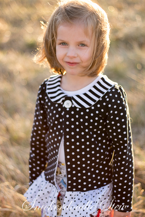 Adeline Knit Cardigan, Top, and Dress Pattern by Foo Foo Threads- Pattern Revolution