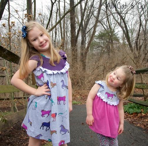 Opal Knit Flutter Tunic Top and Dress by Tie Dye Diva-Pattern Revolution