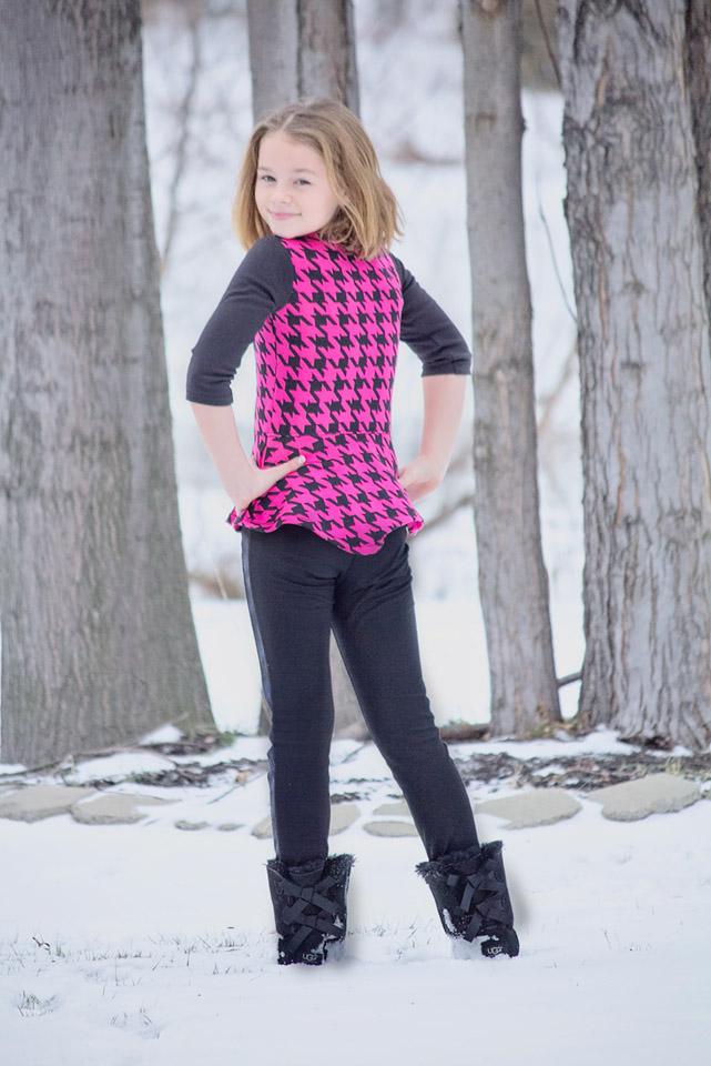 Jocole Ladies and Girls Peplum Top- Pattern Revolution