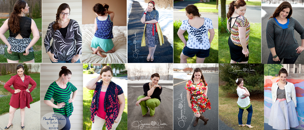 Just a few of my Self Care Sewing creations from 2014