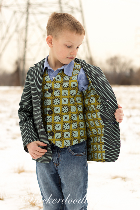 Boy's MashUP- Vest + Jacket = One Dapper Dude- Pattern Revolution