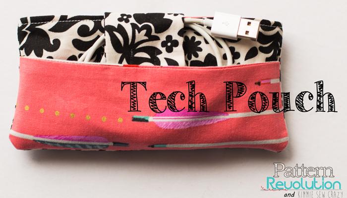 Tech Pouch Pattern by Lorelei Jayne-Pattern Revolution