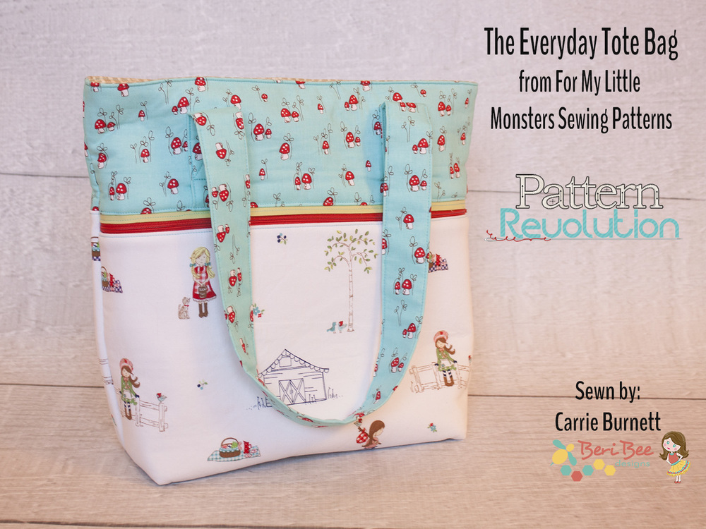 Everyday Tote by For My Little Monster- Pattern Revolution