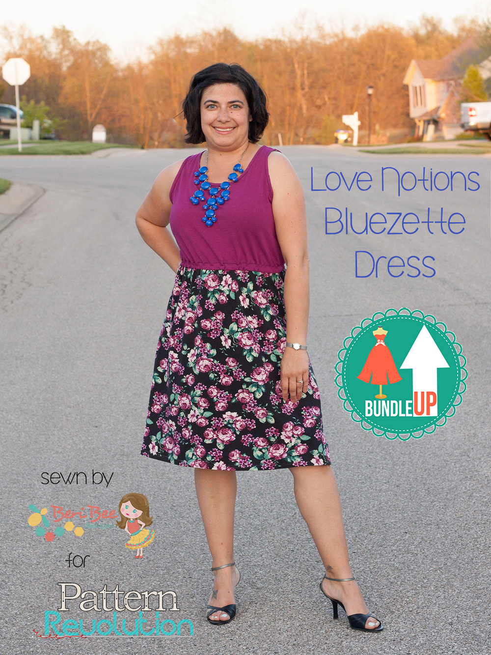 The Bluezette Dress from Love Notions- Pattern Revolution