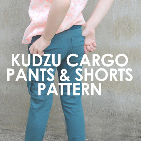 The Kudzu Cargos work for boys and girls and are SO versatile. You can make shorts or pants with them. Perfect for uniforms or cool back to school style.