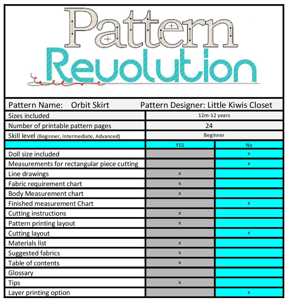 Orbit Skirt by Little Kiwis Closet- Pattern Revolution