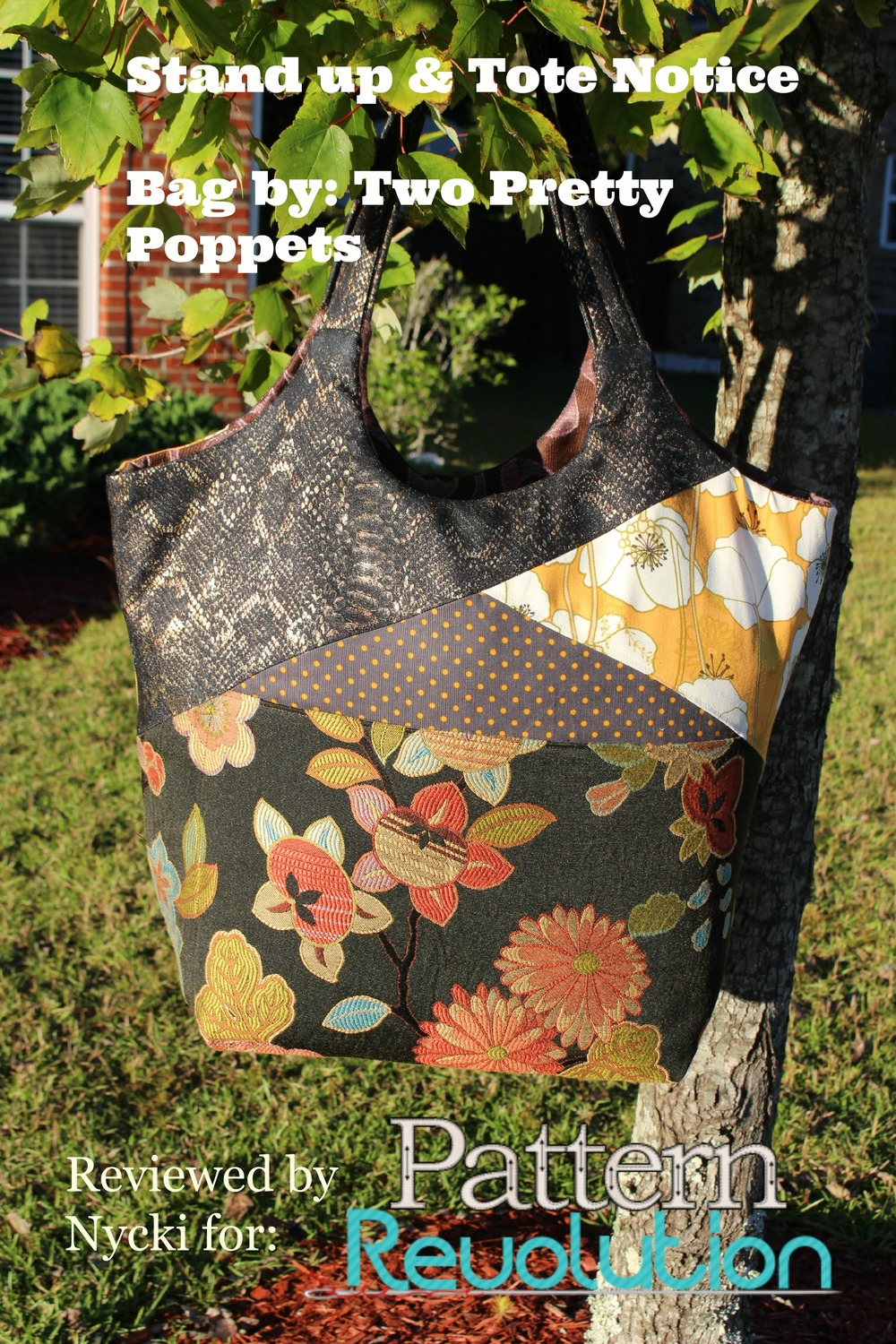 The Stand Up Amp Tote Notice By Two Pretty Poppets Pattern