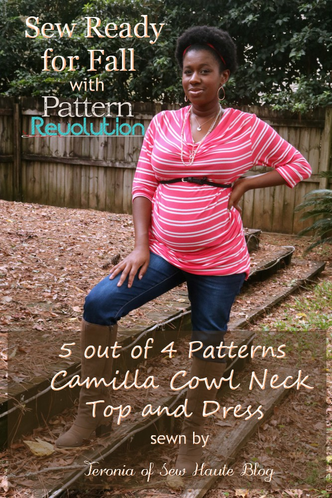 Sew Ready For Fall Camilla Cowl Neck Top And Dress By 60 Out Of 60 Fascinating 5 Out Of 4 Patterns