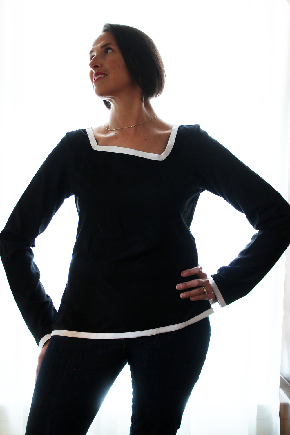 JB_Basic Black book review_asymmetrical blouse_looking aside.jpg