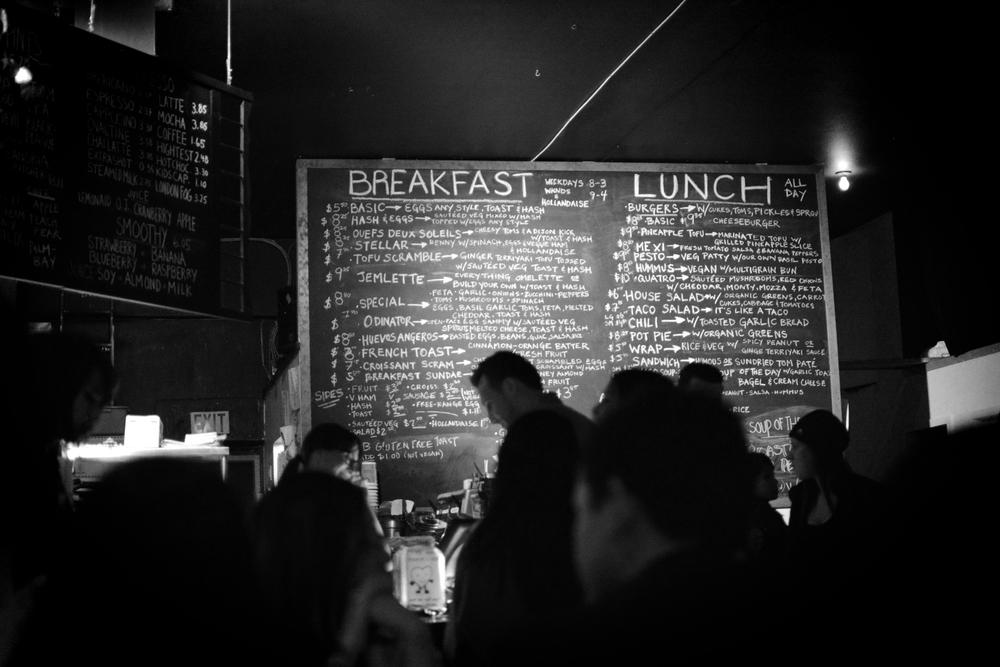 The venue, Cafe deux Soleil located on Commercial drive is a pretty quaint little place.