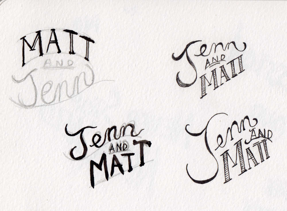 Some name sketches.