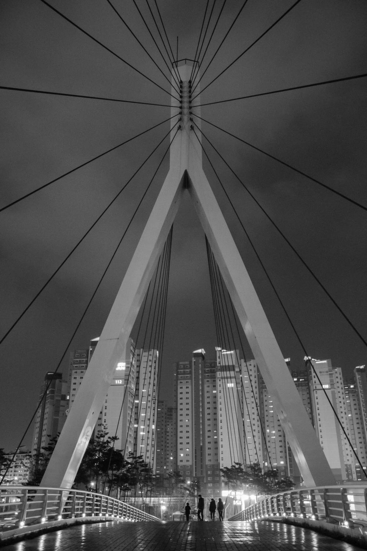 Foot-bridge near my work.