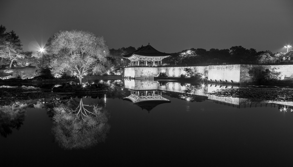 Anapji pond, ancient palace of Silla, and pride of Korea.