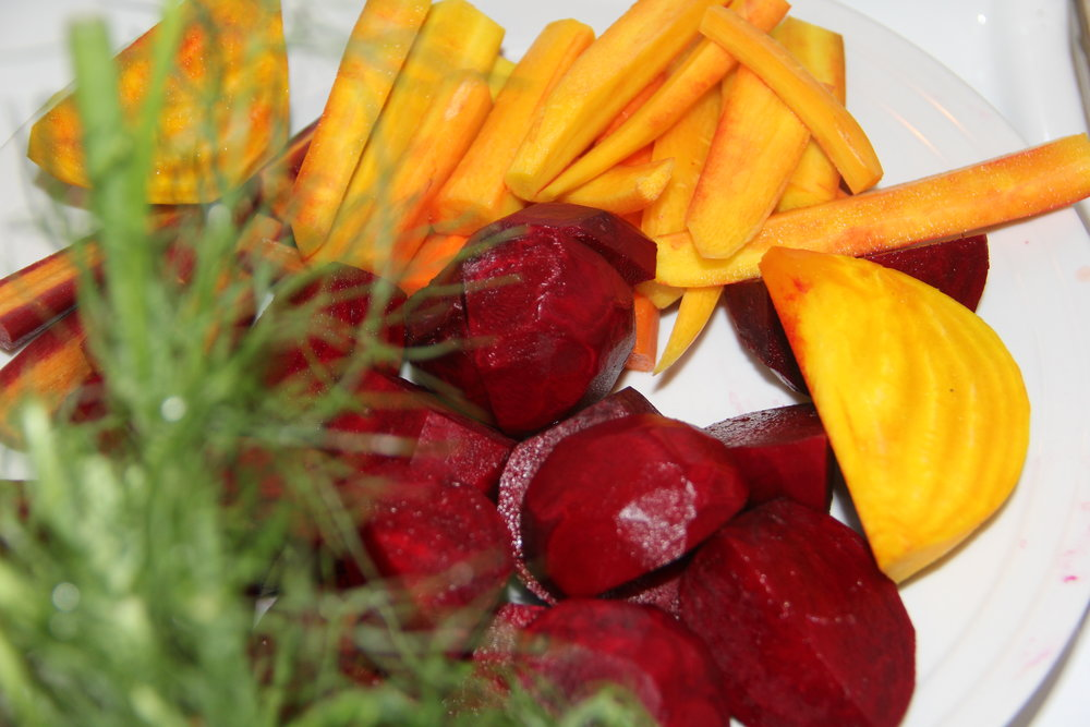 Orange and Red Beets