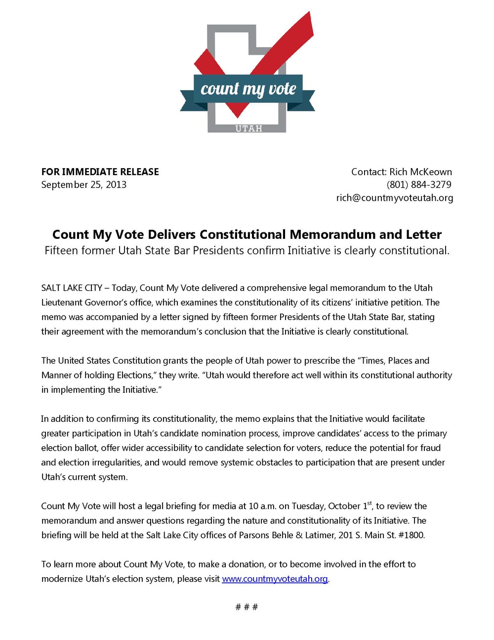 Count My Vote Delivers Constitutional Memorandum and Letter.jpg