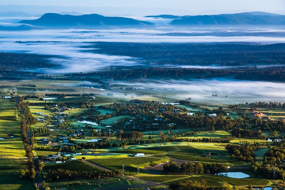 Ballooning in Australia's Hunter Valley