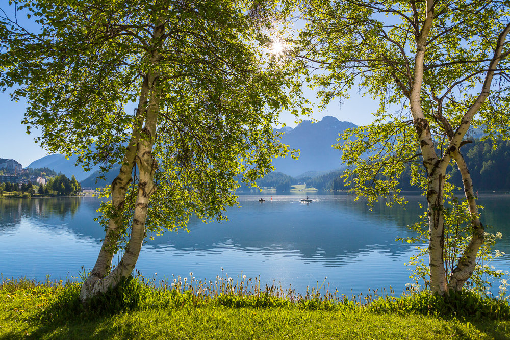 Lake St. Moritz, St. Moritz, Switzerland