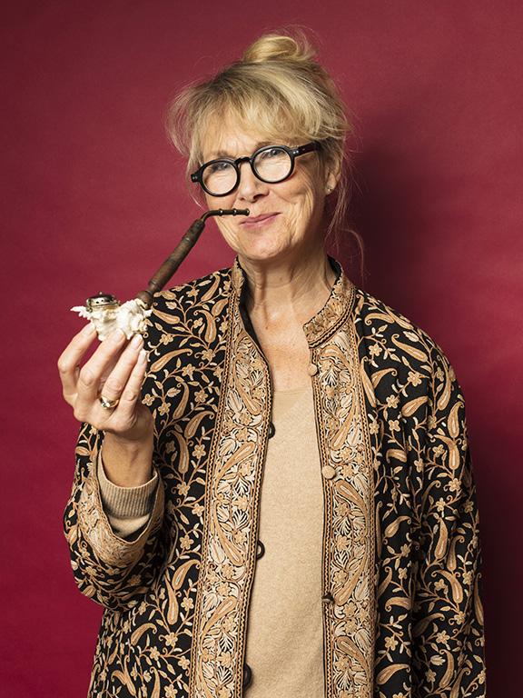Pia Erixson hittade en ovanlig pipa gjord av ett snäckskal, för 200 kr.