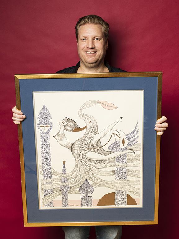 Jonas Fuxing hittade en litografi av Max Walter för 1500 kr.