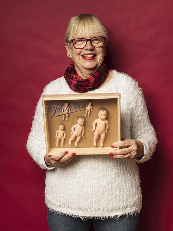Lena Palmberg fyndade ovanliga smådockor, fortfarande i sin originalförpackning, för 300 kr.