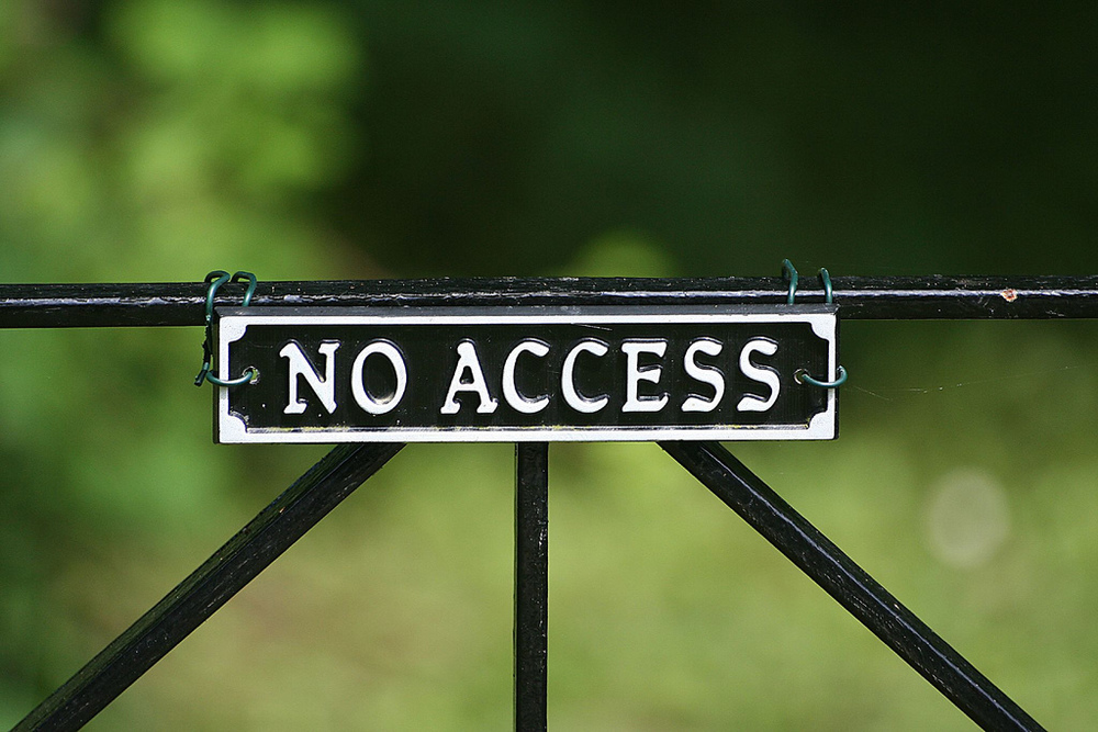 Flickr credit: No Access by Bob Shand
