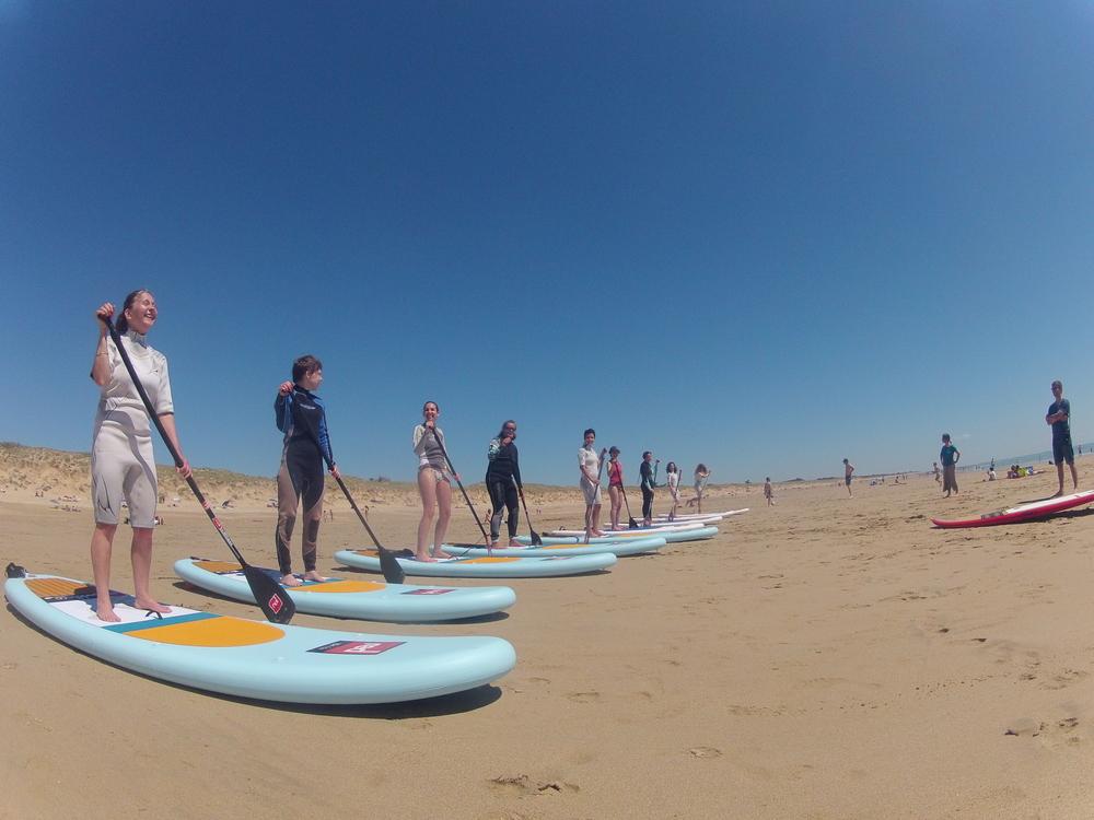 Initiation Papaï paddle groupe iledere SupYoga