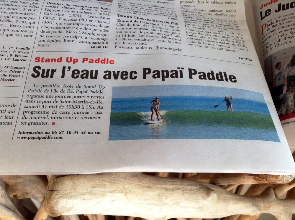 Article Phare de Ré - Portes Ouvertes Papaï Paddle dans le port de Saint-Martin de Ré