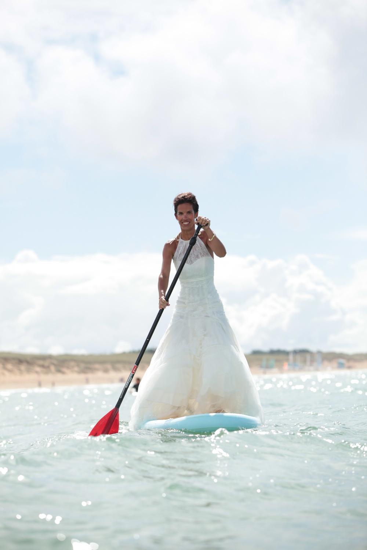 Anne-Claire a choisi Red Paddle pour ses photos de mariée - Photo Farid Mahklouf